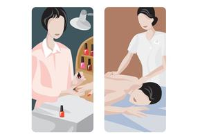 Conception de massage et de manucure