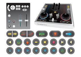 Console de mixage et boutons