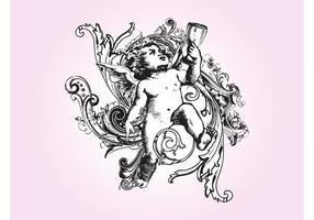 Antieke Cupido Grafieken