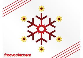 Snowflake With Flowers