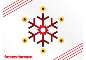 Copo de nieve con flores