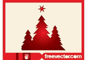 Christmas Trees Silhouettes Clip Art