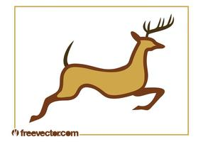 Running Reindeer Graphics