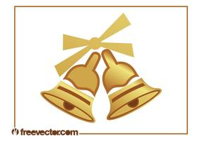 Campanas doradas de Navidad