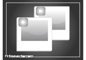 Graphiques de photos polaroid