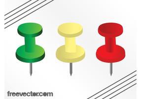 Kleurrijke Push Pins