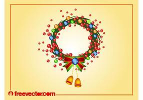 Navidad Corona Vector Arte