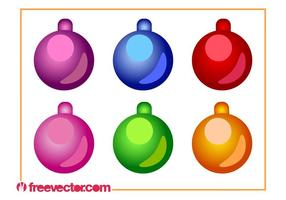 Weihnachten Ornamente Vector Set