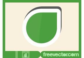Etiqueta engomada verde