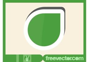 Grüner Aufkleber