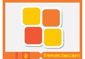 Kvadrera klistermärke
