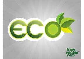 Etiqueta engomada de Eco