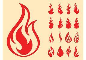 Fire Symbols Set