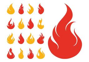 Feuer Icons Set