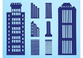 Skyscrapers Silhouettes Set