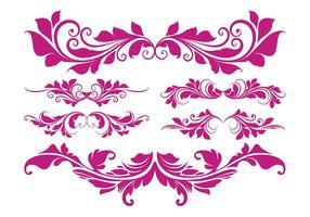 Retro Flor Scrolls