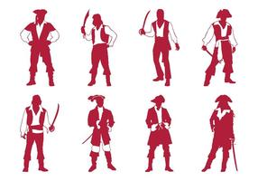 Ensemble de silhouettes de pirates