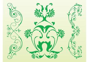 Antique Floral Scrolls