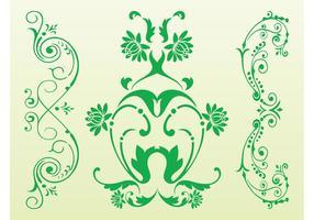 Antike Blumenrollen
