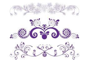 Gráficos de scrolls de flores