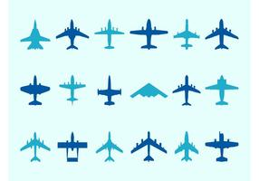 Airplane Silhouettes Set