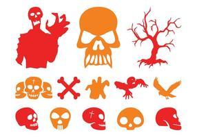 Conjunto de gráficos de Halloween