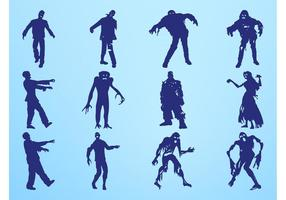 Graphiques zombie silhouettes