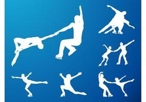 Silhouettes de patinage artistique