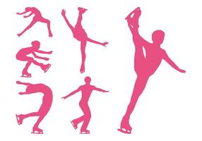 Figure Skaters Silhouettes Set