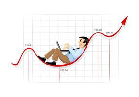 Affärsman och graf