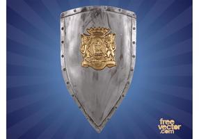 Heraldisk sköld med lejon