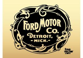 Old Ford Motor Company Logo vector