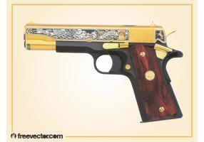 Vecteur de pistolet d'or