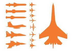 Militärflugzeuge und Bomben