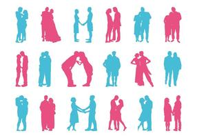 Couples Silhouettes Set