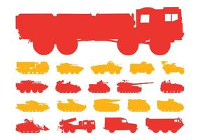 Military Vehicles Silhouettes