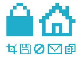 Pixelierte Computer-Icons