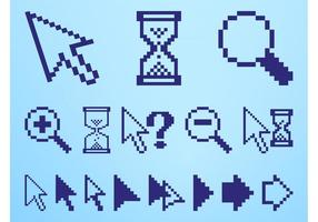 Pixelierte Icons Set