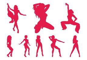 Strippers Silhouetten