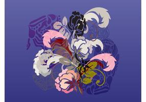 Blumenblüten Layout