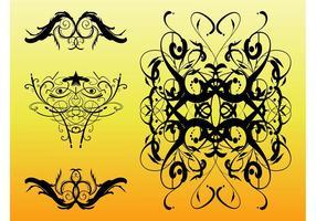 Swirling Retro Ornaments