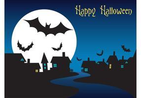 Halloween-Nachtgrafik