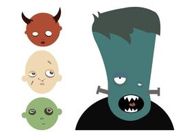 Cartoon Halloween Monsters