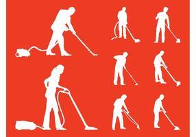 Pessoas de limpeza