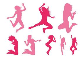 Jumping Girls Silhouettes