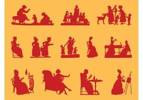 Silhuetas das mulheres antigas
