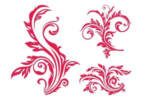 Floral scrolls afbeelding