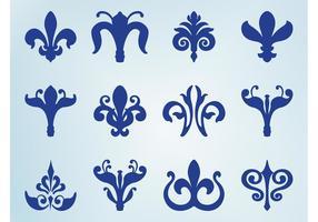 Fleur De Lis Icon Set