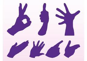 Conjunto de gestos de mano