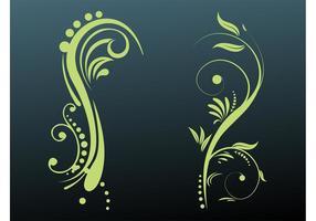 Bloemen scrolls ontwerpen